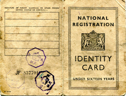 world war 2 identity card template - 28 images - evacuee experience ...